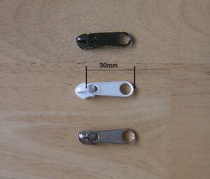 50pack Zip Slider No5 Plastic Spiral Zip Nylon Coil Zip Sliders Slider Pull Zip