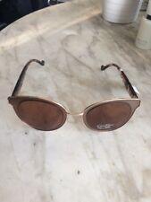 Jessica Simpson Women's   J5458 Brown Gold Oversized Cat Eye Sunglasses