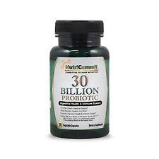 NutriCommit 30 Billion Probiotics Vegetable Capsules(30) strain of BACILLUS subt