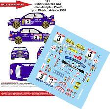 DÉCALS 1/18 réf 151 Subaru Impreza GrA  Jean-Joseph -  Pivato  Lyon Charbo 1998