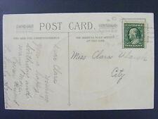 Prague Nebraska NE Saunders County 1911 Type 2/5 Doane Cancel Antique Postcard