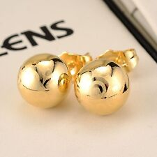 Amazing 18k Yellow Gold Filled Charm Stud Ball Earrings Women Jewelry Hot Gift