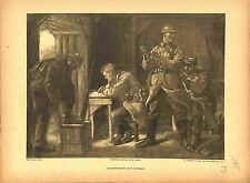 Quart-d'Heure avant l'Attaque Poilus Soldats la Marne de Lucien Jonas 1915 WWI