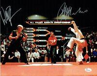 Karate Kid Cobra Kai Macchio Zabka Autographed Signed 11x14 Photo JSA COA
