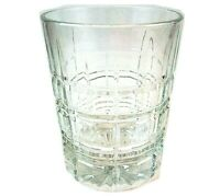 Lowball Old Fashioned Library Cut Design Drinking Glass Rocks Whiskey Cup