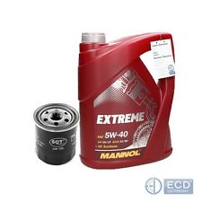 Mannol 5W40 Extreme 5L Motoröl + Ölfilter Filter Anschraubfilter Peugeot Toyota