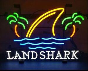 """New Landshark Lager Beer Shark Fin Neon Sign 17""""x14"""" Beer Lager Decor Light Lamp"""