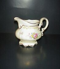 Hutschenreuther Selb Creamer Bavaria Germany Porcelain Flowers Gold Trim