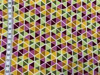 """Sweat - """"Triangle Mosaic"""" - lila/grün - bunte Dreiecke - sehr weich"""