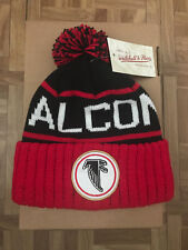 Mitchell & Ness NFL Atlanta Falcons High 5 Cuffed Knit Pom Beanie Hat - MSRP $24
