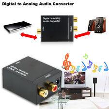 Adaptador óptico coaxial RCA L / R señal digital convertidor de audio analógico