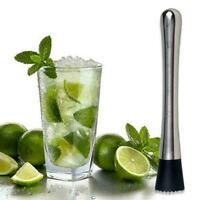 Cocktail Muddler Stainless Steel Handle Bar Mixer Barware Cock Drink Mojito K5M8