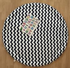 BLACK AND WHITE BABY PADDED ROUND TUMMY TIME PLAY MAT ROUNDIES NURSERY  BLANKET