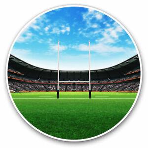 2 x Vinyl Stickers 20cm - Rugby Pitch RFC Stadium Cool Gift #16367
