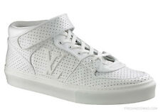 Auth Louis Vuitton Acapulco Perforated White Leather Sneakers LV 13 US 14 EU 47