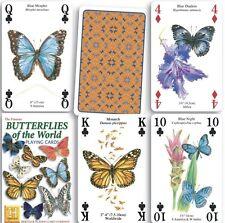 FARFALLE DEL MONDO set di 52 carte da gioco + Buffoni (HPC)