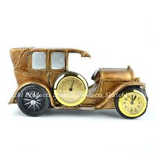 Handmade Resin Crafts Car with Clock Home Decore Christmas Gifts