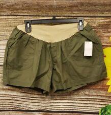 Motherhood Maternity Olive Green/ Nude Shorts Size XL NWT