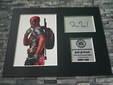 More details for ryan reynolds - deadpool - signed autograph display