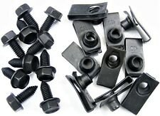 "Ford Truck 5/16-18 Body Bolts & U-nut Clips- 27/32"" Center to Edge- 20 pcs- #372"