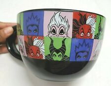 Disney villains Ceramic Coffee Soup Bowl Mug 24 oz cruella de vil maleficient