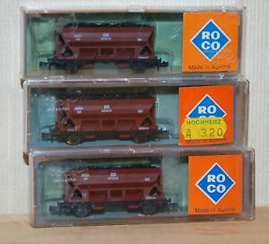 Roco N 2302 Self-Unloading Freight Cars Set of 3