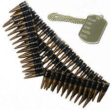 Cintura Proiettile & Dog Tag Soldato Dell'esercito 80s 90s Messicano Costume Outfit