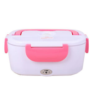 Thermoplastic Polymer White Pink Portable Electric Heating Lunch Box 50W