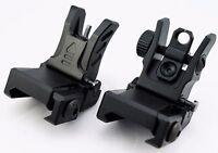UTG Low Profile Flip-up BUIS Sight Set Folding Iron Sights Weaver Rail Mount