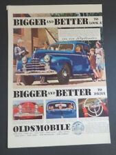 Original 1940 Print Ad OLDSMOBILE Bigger and Better to Look at