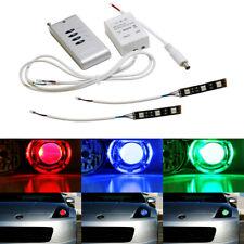 RGB Demon Eye LED + Wireless Remote For Car Bike Headlights Projector Retrofit