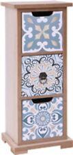 Bleu Meuble en bois avec 3 dessine