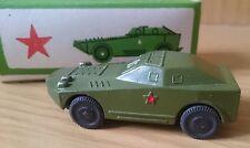 Russian soviet vintage original diecast military metal toy armored car 1993