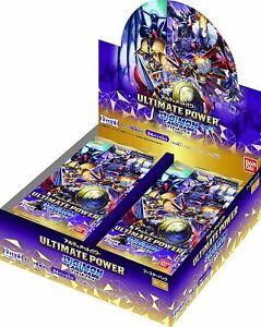 Bandai Digimon Card Game Booster ULTIMATE POWER BT-02 BOX