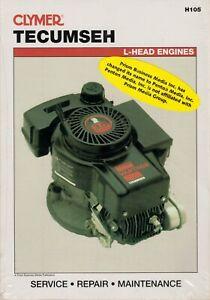 Tecumseh L-head Engines 2.5 to 10 HP Maintenance Troubleshooting Repair