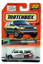 2000 Matchbox #80 Snow Explorer Chevy Suburban with 2000 logo