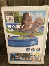"""Intex 10ft x 30"""" Easy Set Round Swimming Pool with Pump and Filter"""
