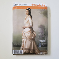 Victorian Wedding Gown Pattern Wrights Bridal Museum 6,8,10,12 Uncut Simplicity