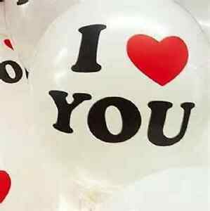 """100pc I LOVE YOU+Heart Latex Balloon 12"""" Party/Wedding/Decoration Red/Pink/White"""