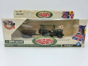 Solido The Famous Battles Jeep 6112 Ambulance Box & Papers FREE SHIPPING
