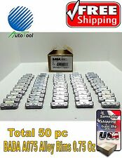 WHEEL WEIGHTS ALLOY Clip on RIMS 0.75 Oz, 50 pc Box BADA ALX 075  MADE IN USA