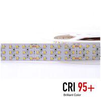 Striscia LED 140W 28W/MT 24V Tripla Fila CRI95 1440 SMD2835 288LED/MT IP20