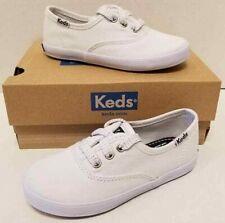 Kids Girls Keds Champion K White Canvas Toddler Size US 12M Shoes NIB