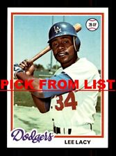 1978 Topps #2-239 EX-MT/NM Pick From List All PICTURED