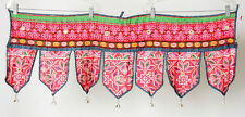 FREE SHIPPING!! Hmong Hilltribe Toran Thailand Valance Embroidered Bohemian Boho