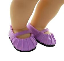 Doll Clothes Ballet Style Slip on Purple Fit 15 inch Bitty Baby