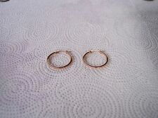 Stainless Steel 25mm Hoop Earrings (Almost 1 inch)High Polished Rose Gold Plated