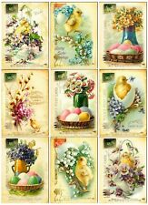 Easter Postcards Glossy Finish Card Making Toppers / Embellishment
