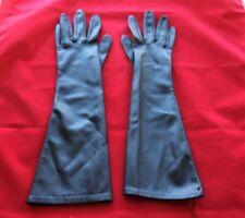Vintage Women's Black Formal Dress Gloves 100% Nylon 15� Long Size 7, Usa