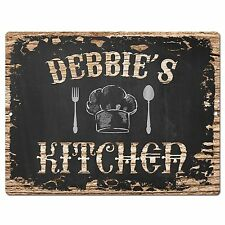 PP1972 DEBBIE'S KITCHEN Plate Chic Sign Home Room Kitchen Decor Birthday Gift